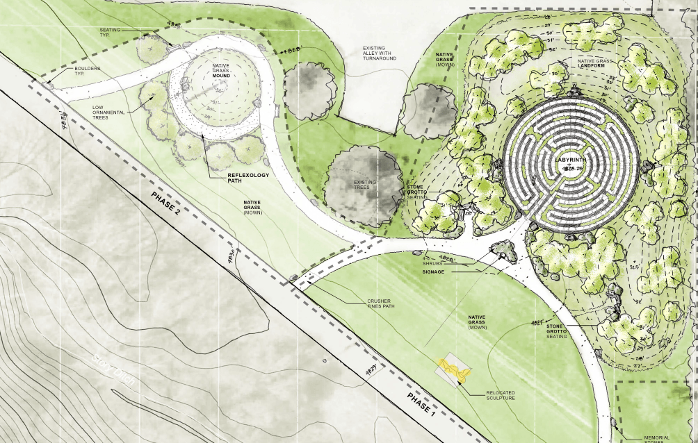 New Labyrinth offers a space for contemplation and retreat