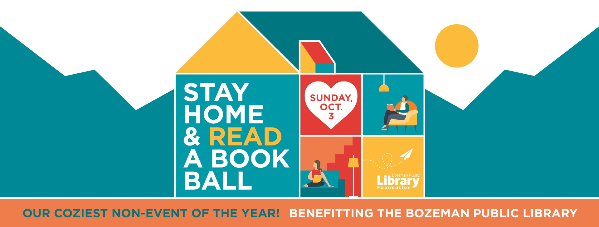 Stay Home and Read a Book Ball Oct 2021 graphic