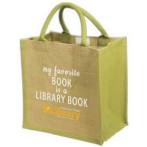 """Party Pack bag with the text, """"my favorite book is a library book"""""""
